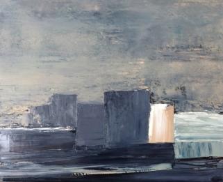 """Série """"Rivages"""", acrylique sur toile 80x60 cm, 2014"""
