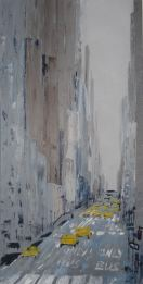 """Série """"Urbaines"""" - Acrylique sur toile - 40x80cm"""
